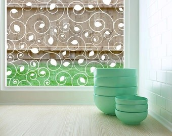 Decorative Window Film Static Cling or Adhesive Clear