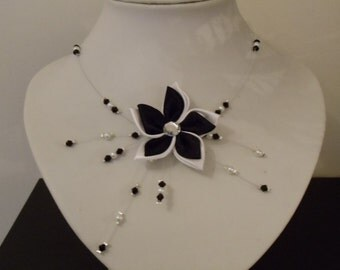 Necklace wedding black and white d other colors possible