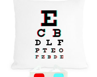3D Eye Chart Pillow