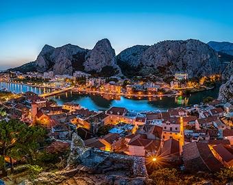 Europe - Croatia - Omis view at dusk - SKU 0102