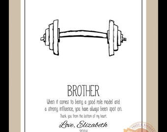 Brother Gift Personalized Print for Brother Wedding Gift for Brother ...