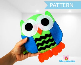 Owl Pillow Pattern, Owl Pillow Sewing Pattern, Pdf Pattern, Instant Download , Cute Owl Pillow Pattern A774