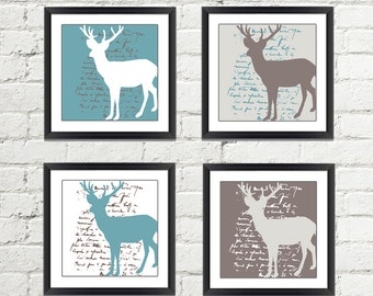 Deer Wall Art - Deer Wall Decor - Woodland Wall Art - Woodland Wall Decor - Wildlife Wall Art - Wildlife Wall Decor