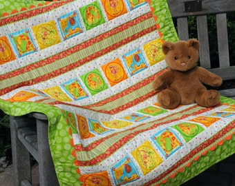 Whimsical Animal Baby Quilt