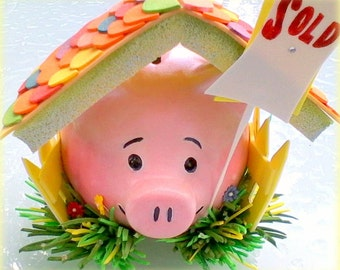 investi piggy, A Hand Painted and Decorated Ceramic Piggy Bank