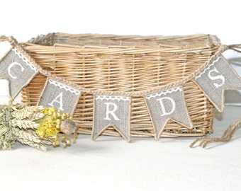 Wedding Cards Banner, Burlap Wedding Cards Banner,rustic Wedding banner, cards banner, burlap banner,cards sign