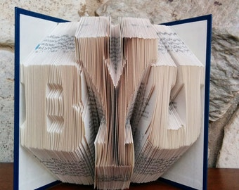 BYU - Folded Book Art - Fully Customizable, Brigham Young