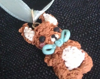 Handmade Polymer Clay Rabbit Necklace