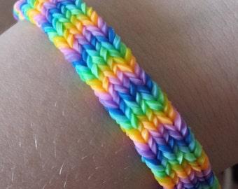 Flexafish Rainbow Loom Bracelet (Flat Hexafish)
