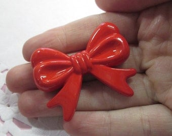 Large Red kawaii Bow Beads, Sweet Lolita Bowknots, #455B