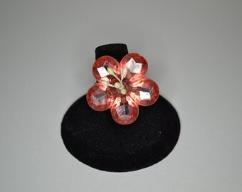 Plastic flower ring