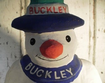 Buckley snowman advertisment  figurine / cough syrup