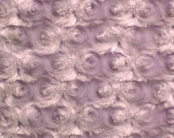 Minky - lavender rose  - sold in 1 yard increments