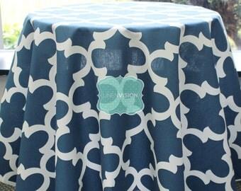 Tablecloth - Premier Prints - FYNN - Cadet Macon - Choose Your Size - Table Linen Wedding Home Decor Dining Kitchen