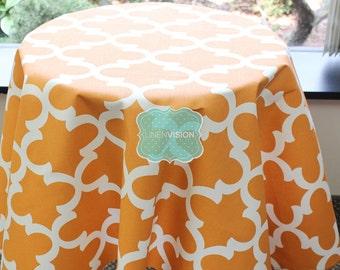 Tablecloth - Premier Prints - FYNN - Cinnamon Macon - Choose Your Size - Table Linen Wedding Home Decor Dining Kitchen