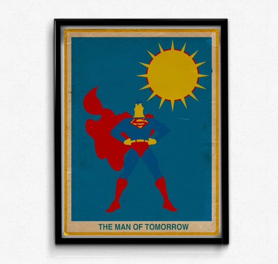 Minimalistic Justice League Superman Print