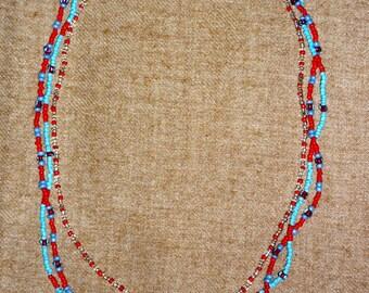 Pretty multi-strand beaded necklaces