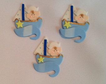 12 pieces Sailor theme baby shower decorations