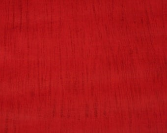 Cherry Red Striated Leather Hide Approximately 13 Square Feet