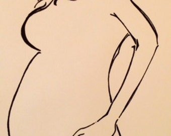 Beautiful pregnancy original drawing