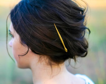 Edgy Gold Snake Hair Pin Brass Bobby Pin Hair Clip Snake Barrette