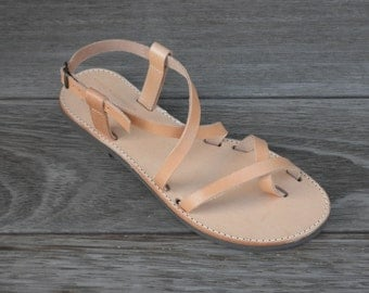 Handmade Natural Tan Leather Sandals