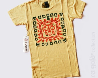 Women's fashion tee. Inti. Inca Civilization Art. South American Diety.