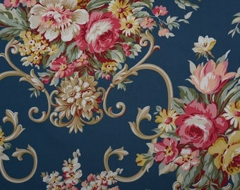 American Vintage 1940's  Floral Reproduction Fabric. New By The Yard