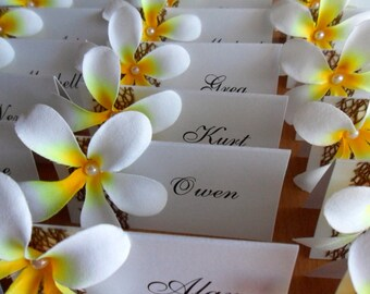 Frangipani Place Cards - Beach Wedding | Destination Wedding | Perfect for many occasions