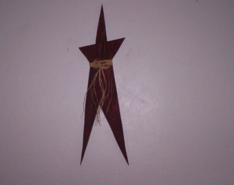 """Appy """"Country"""" Star, Decorative Wooden Star with Distressed Finish"""