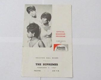 1967 Supremes souvenir mini-program