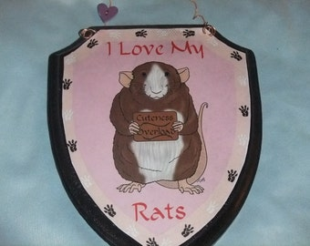 I Love Rats Plaque