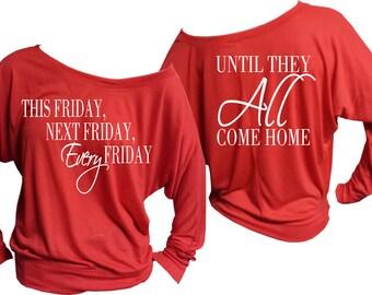 Red Friday Off The Shoulder Shirt