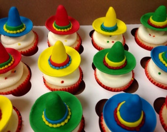 how to make sombrero cupcake toppers