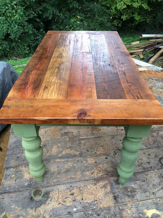6 5 foot rustic heart pine farm table for 65 farmhouse table
