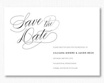 Classic Modern Wedding Save the Date