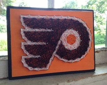 Philadelphia Flyers String Art, hockey string art, nhl