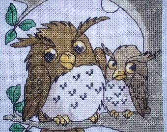 KL63 Goodnight Owls! Counted Cross Stitch Kit