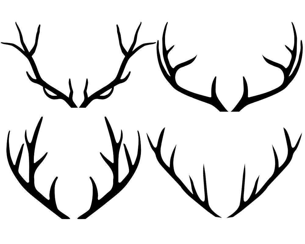 Antler Clipart Antlers Silhouette Clipart Deer by ...