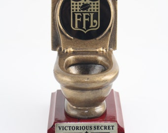 Fantasy Football Toilet Bowl Trophy
