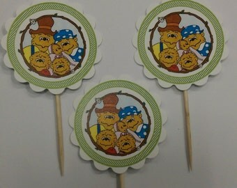 Bernstein Bears themed cupcake toppers