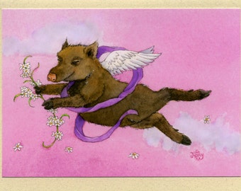 Valentina Javelina Greeting Card