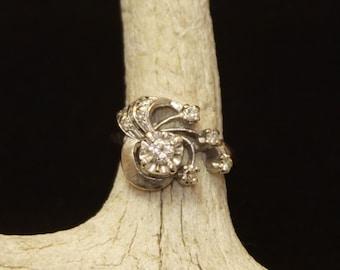Vintage 14kt White Gold 1930's Engagement Ring