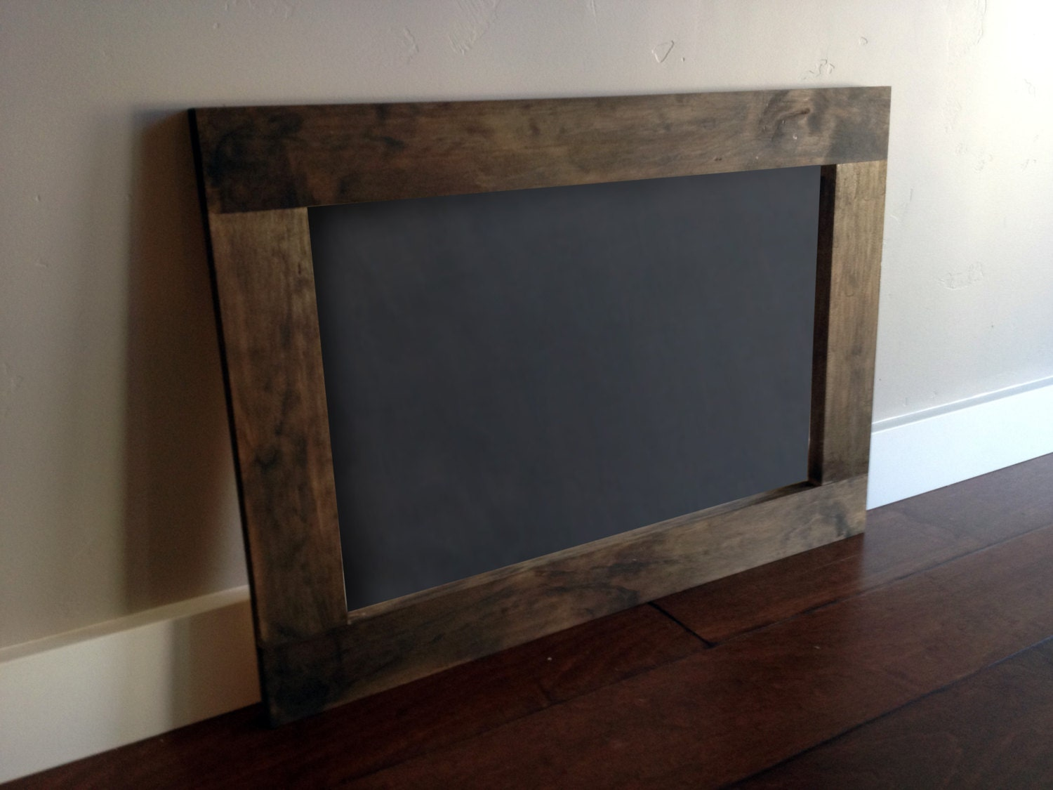 wood framed chalkboard large rustic zoom