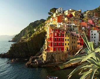 Sea photograph, Riomaggiore photograph, Cinque Terre, Five Lands, Italy photograph, italian seascape. Fine Art Photography.
