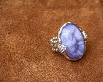 Druzy Agate Ring