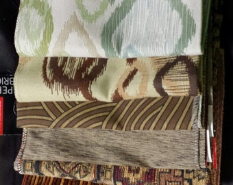 Set of Seven- 17in x 17in Upholstery fabric Squares- 16A