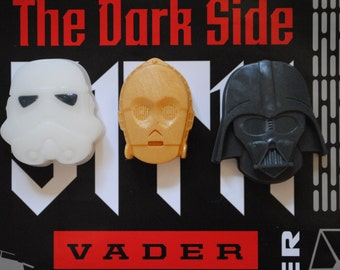 3 x Star Wars Soaps - C3PO, Darth Vader, Stormtrooper - Made from a Star Wars mould