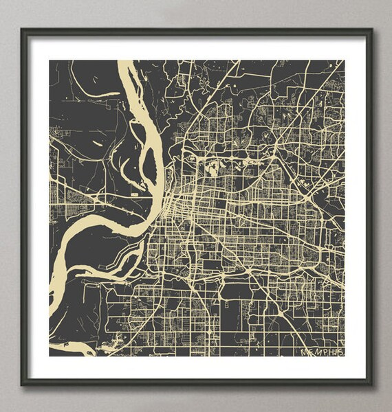 memphis map tennessee giclee fine art modern abstract. Black Bedroom Furniture Sets. Home Design Ideas