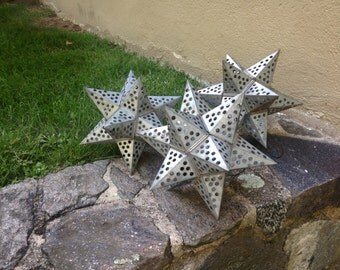 Gray weathered zinc-like stars